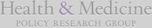 Health & Medicine Policy Research Group footer logo
